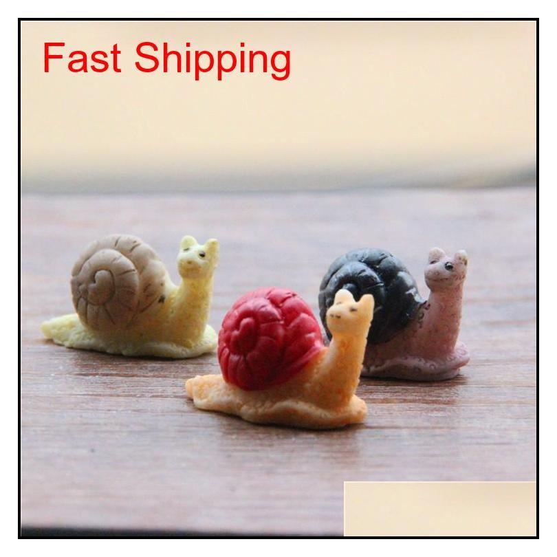 sale~20pcs snail/fairy garden gnome animals/moss terrarium home desktop decor/crafts/bonsai/doll house/miniatures/ diy