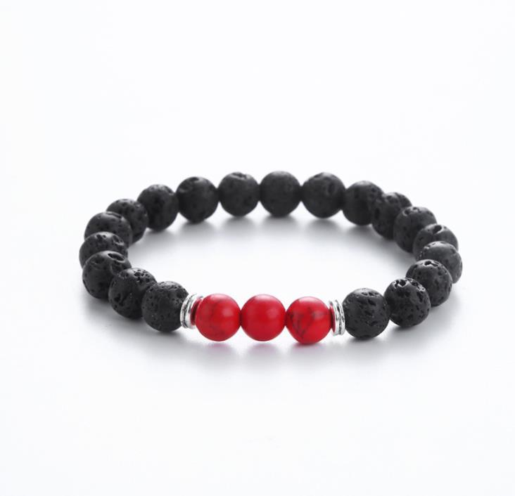 Women Mens Casual Charm Gifts Volcano Bracelets Fashion Volcanic Stone Jewelry Essential Oil Diffuser F0Zyn Beaded Strands
