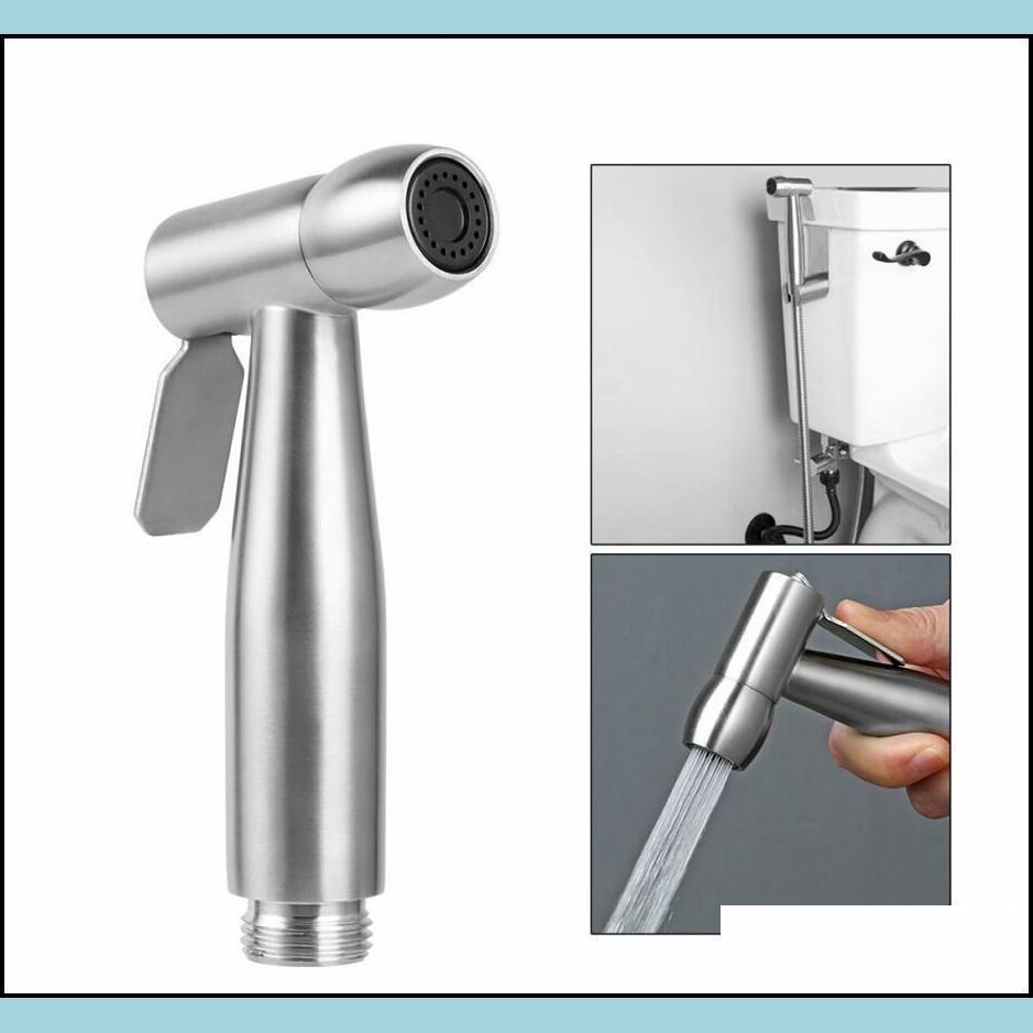 Toilet Bidet Spray Nozzle Stainless Steel Handheld Shattaf Bathroom Sprayer Shower Head Sprayer Bathroom Accessories