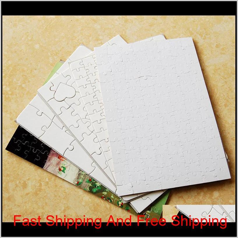 sublimation blank puzzle high quliaty pearl light puzzles a5 size hot transfer printing blank consumables chil bbyzec