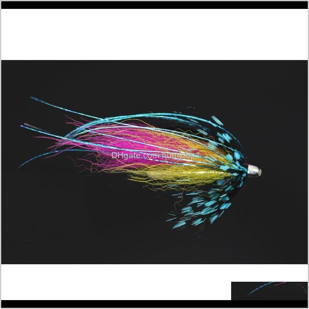tigofly 12 pcs/lot assorted colorful copper cone head tube fly set for salmon trout steelhead fly fishing flies lures set 201104