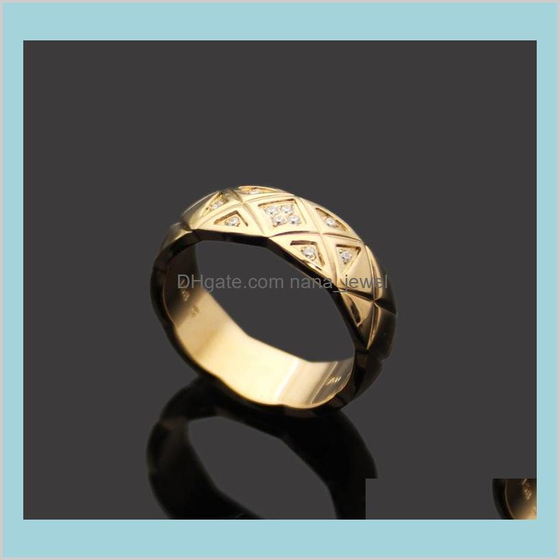wholesale narrow edition stones ring with diamond lattice pattern 18k rose gold lattice with diamond ring narrow version love wedding