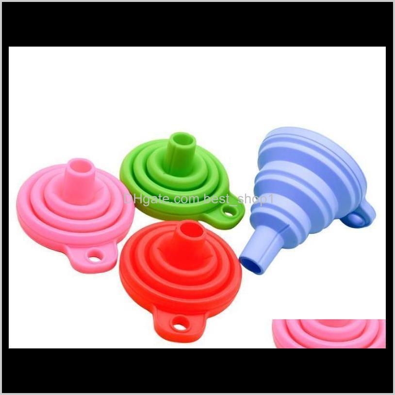silicone foldable funnel mini silicone collapsible style funnel folding portable funnels be hung kitchen tool st560