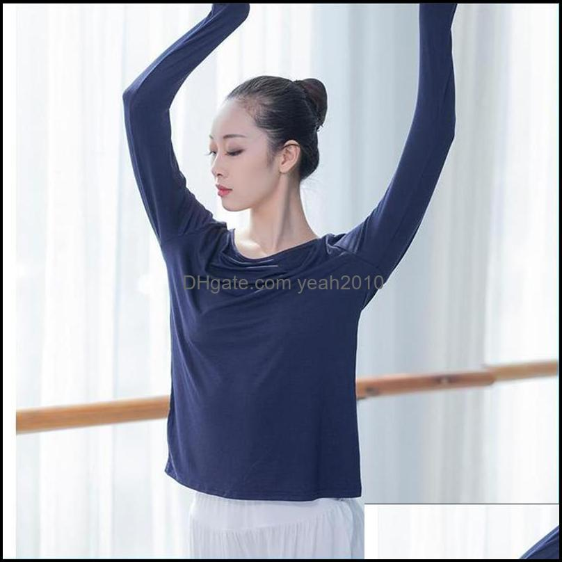 Yoga Outfits Solid Color Fashion Long Sleeves Slim Body Women Tshirts Gym Training Breathable Femme Top1