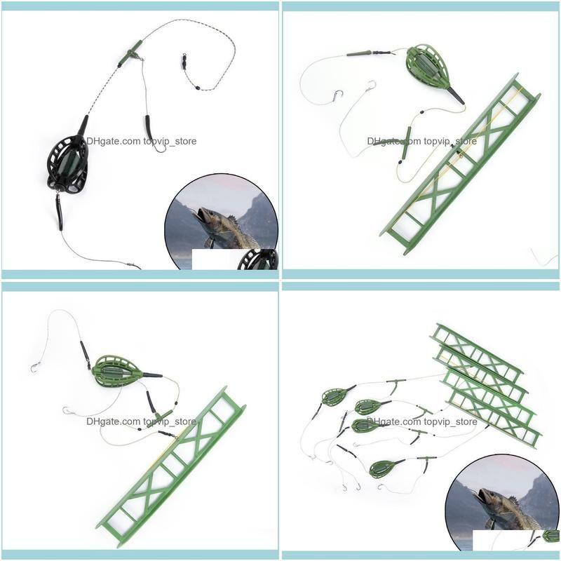 30g,40g,50g,60g Fishing Bait Cage Carp Catfish Feeder Accessories Hooks