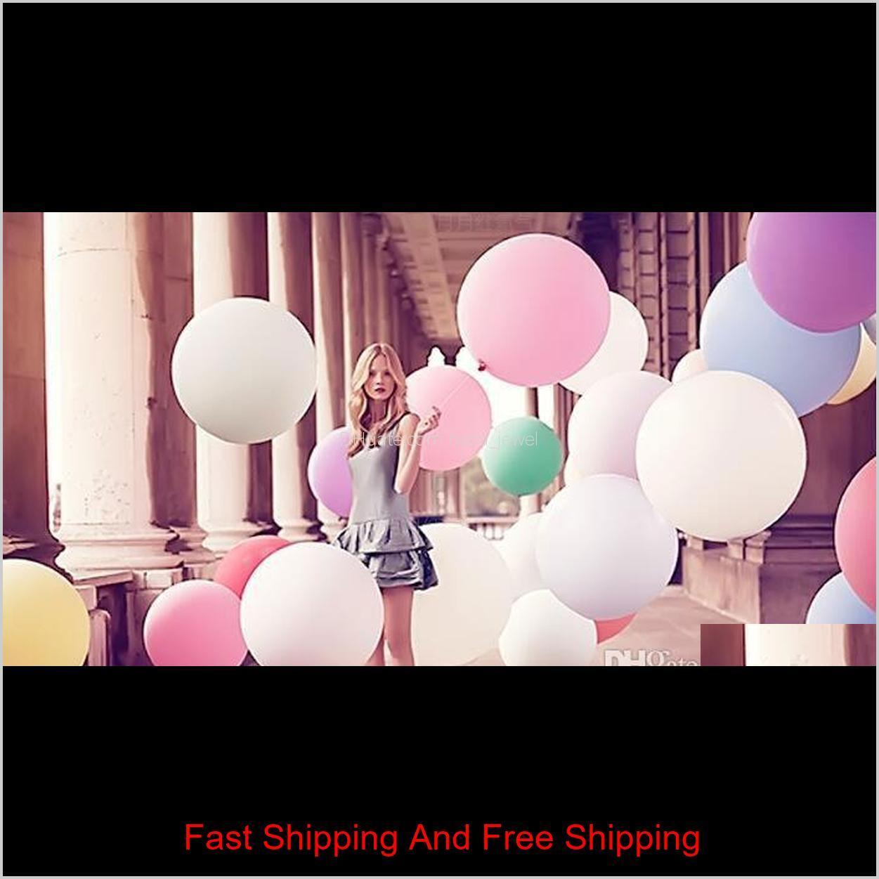 36 inch huge latex balloons colorful inflable blow up giant balloon wedding birthday party large balloon decoration