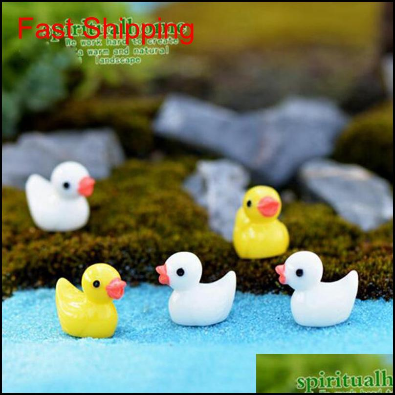 50pcs/lot cute ducks miniatures pvc action figures animal figurines micro landscape mini figurine dollhouse fairy garden decor