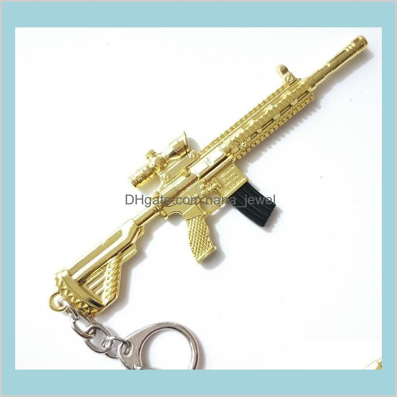 2019 new hot pubg fps game player unknown`s battle grounds 3d keychain eat chicken game car key chains keyrings hot
