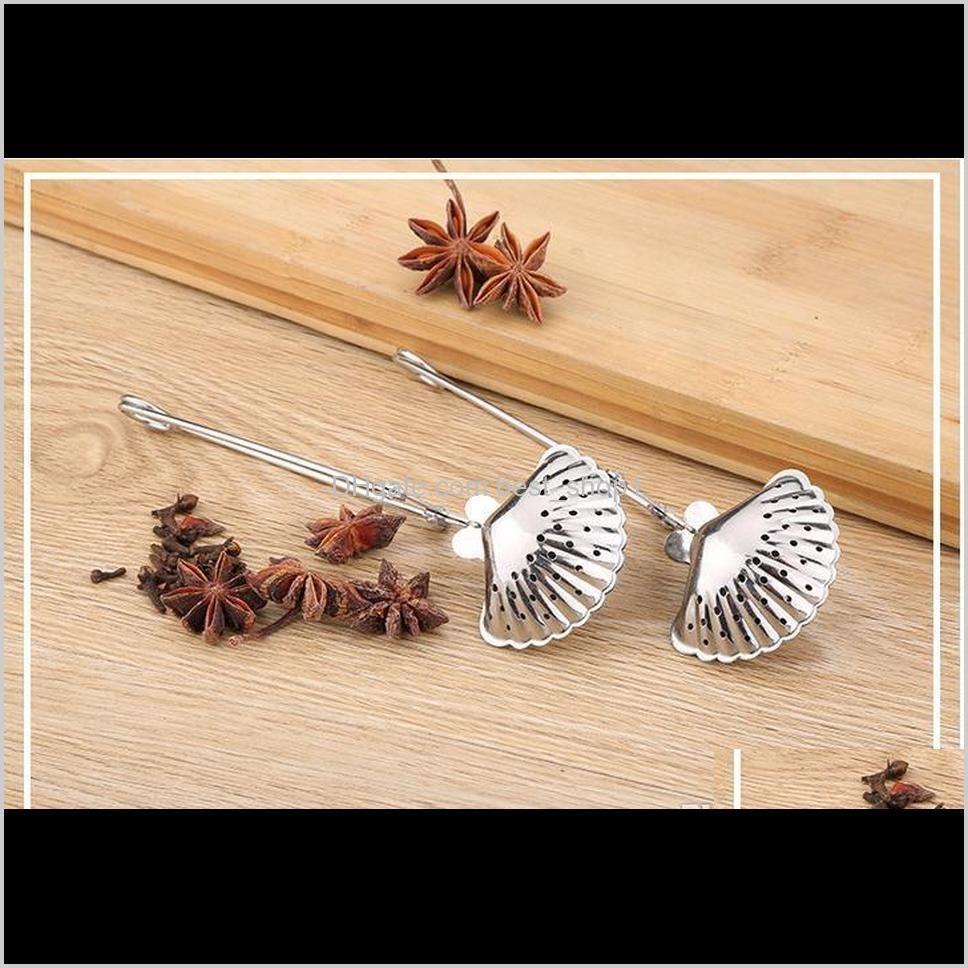 6styles stainless steel tea strainer tea spoon seasoning infuser star shell oval round heart shape strainer teaware