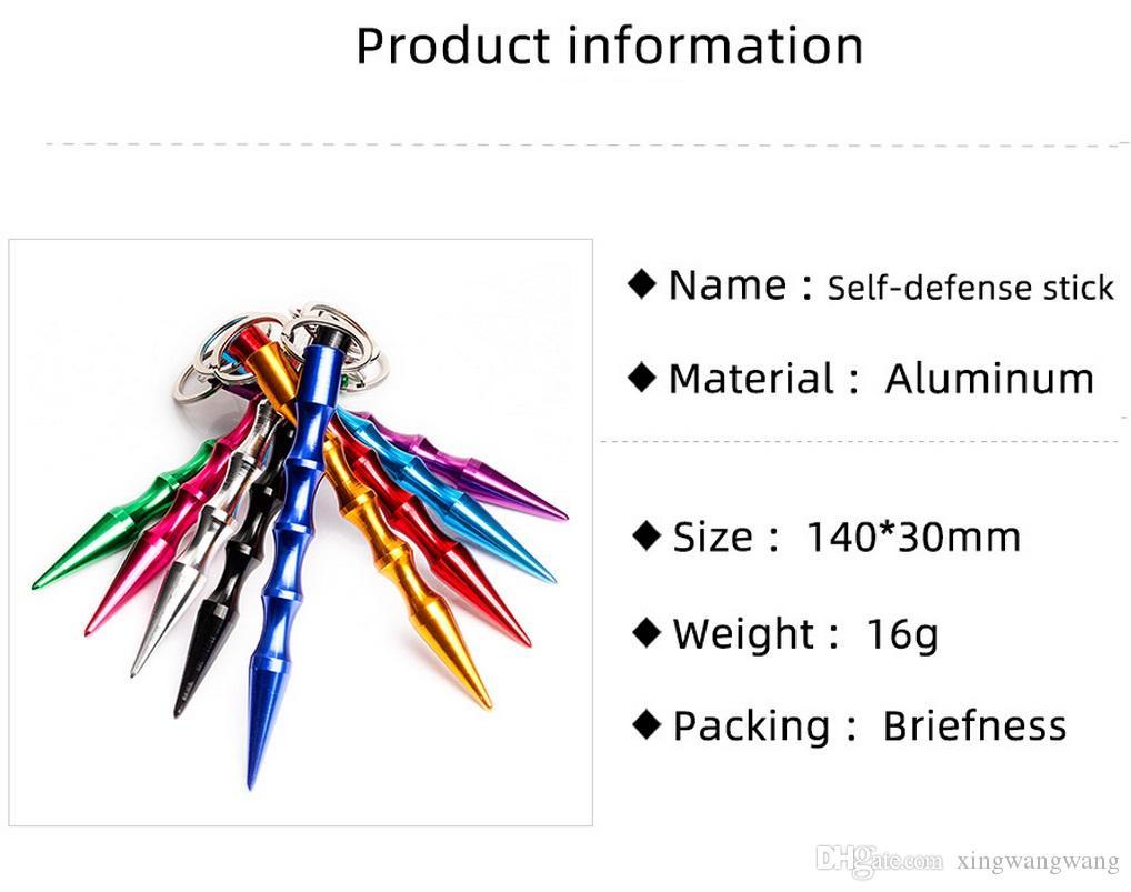 الدفاع الذاتي المفاتيح أقراط معدنية حامل الأسلحة التكتيكية أداة أزياء المرأة رجل رصاص تصميم سيارة سلاسل المفاتيح الملحقات