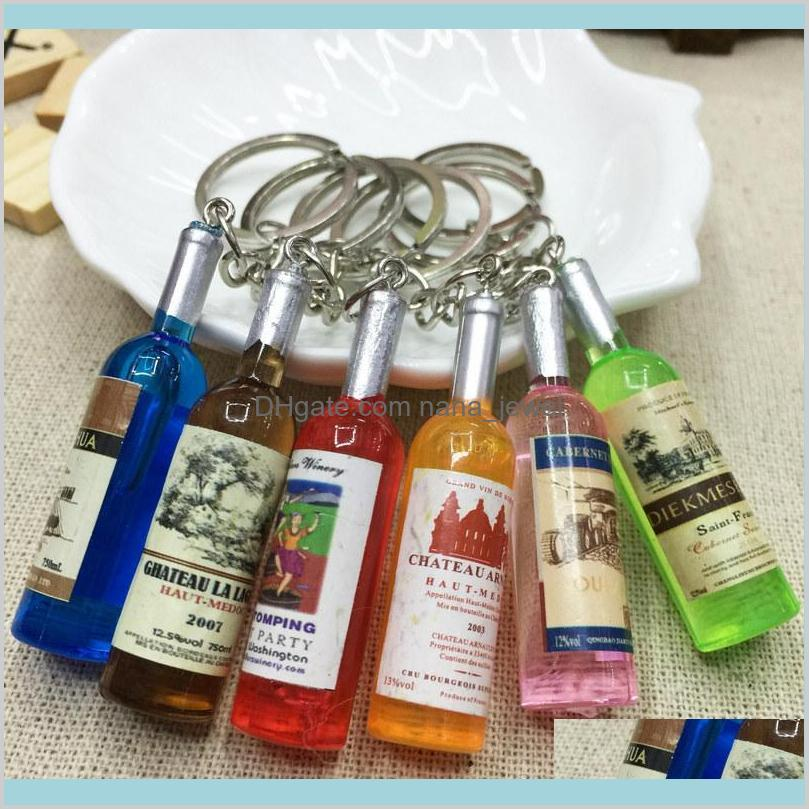 small wine bottle wine cell phone pendant key chain key ring beer bottle creative korea jewelry gifts men wedding gift