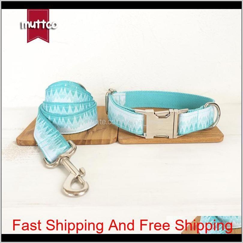 muttco custom made collar retailing fresh style collar engraved pet name the green mountain print dog collar 5 sizes udc015 1020