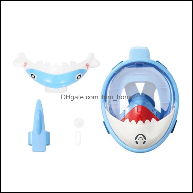 Scuba Diving Mask for Kids Full Face HD Anti Fog Anti-Leak Swimming Masks Snorkel Diving Masks Underwater Snorkel