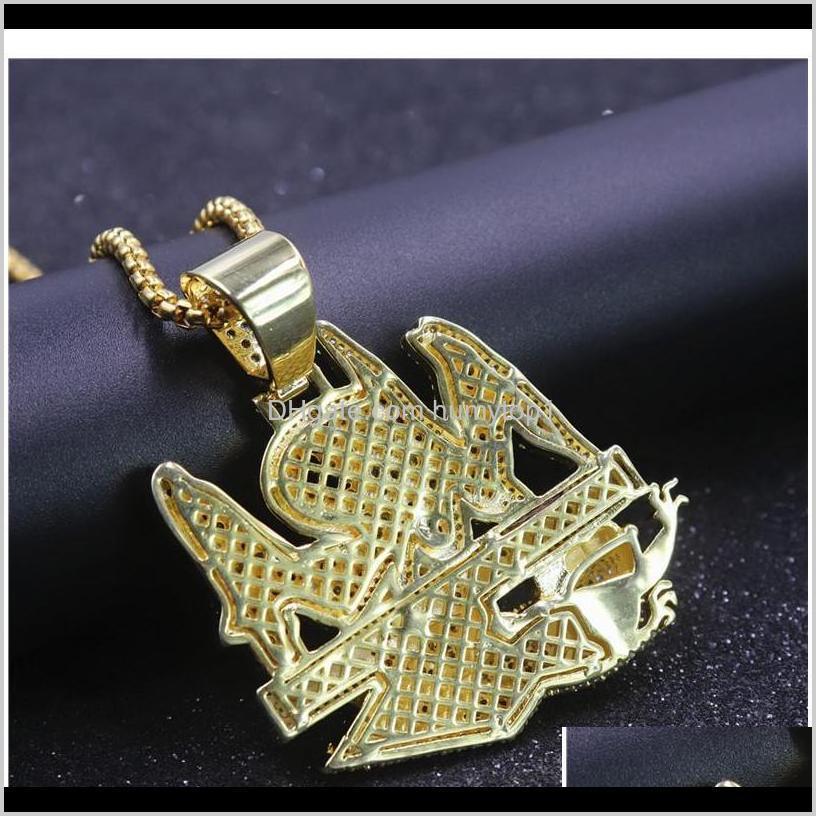 hip hop letter necklace no rats allowed pendant iced out full zircon mens jllptt