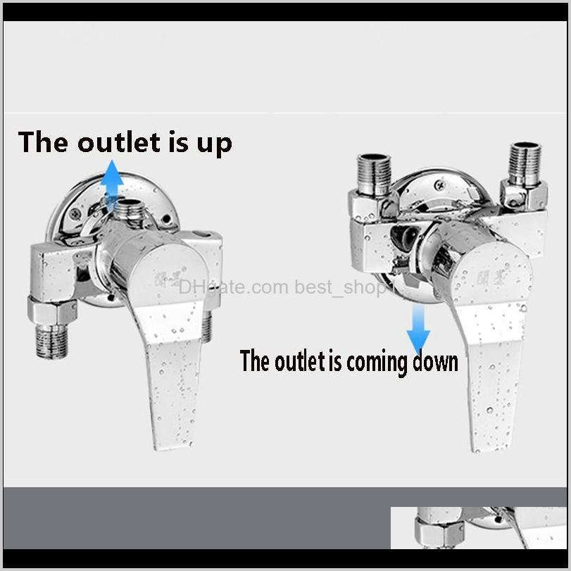 surface mounted brass shower faucet valve in wall chrome hot and cold taps shower switch angle valve