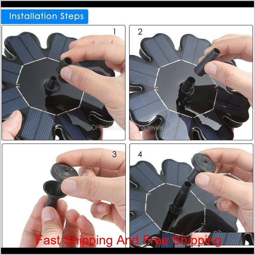 solar panel powered brushless water pump yard garden decor pool outdoor games round petal floating fountain water pumps cca11698 10pcs