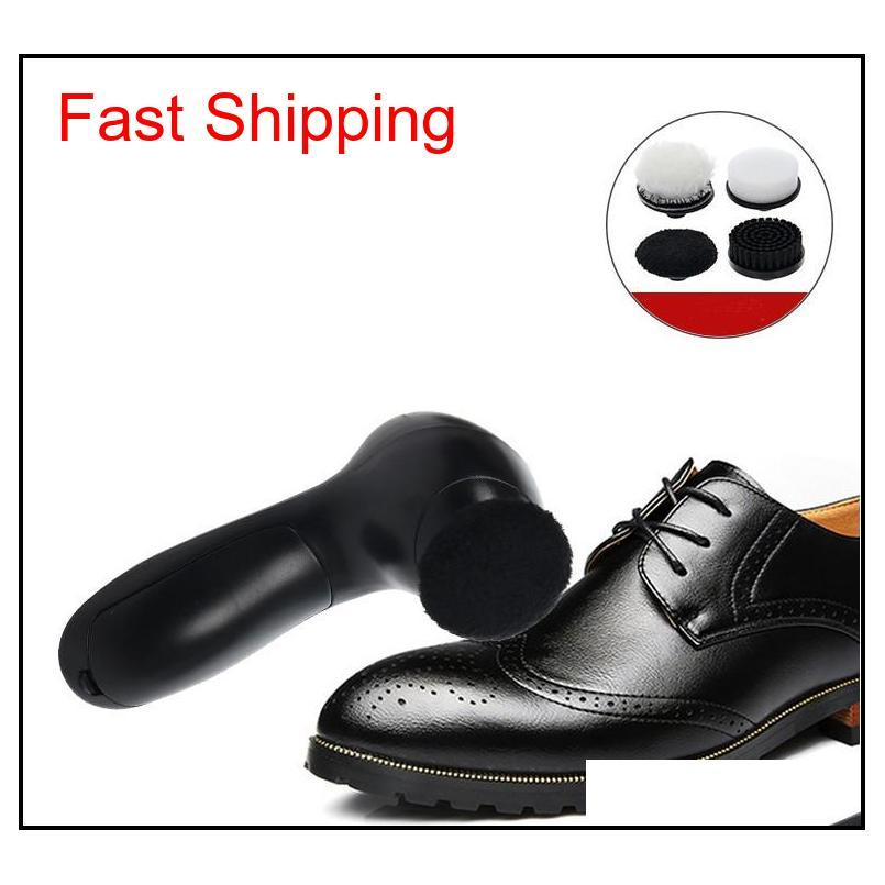 portable electric shoe polisher cleaner 2 speeds battery powered shoes cleaning machine with 4 brush heads