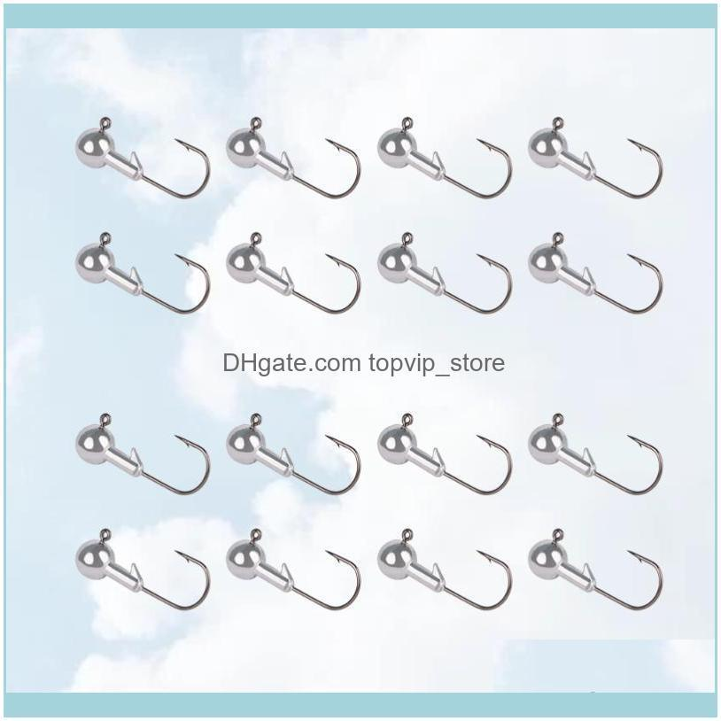 50pcs Lead Head Hook Barbed Fishing Lure Tackle For (3.5g) Hooks