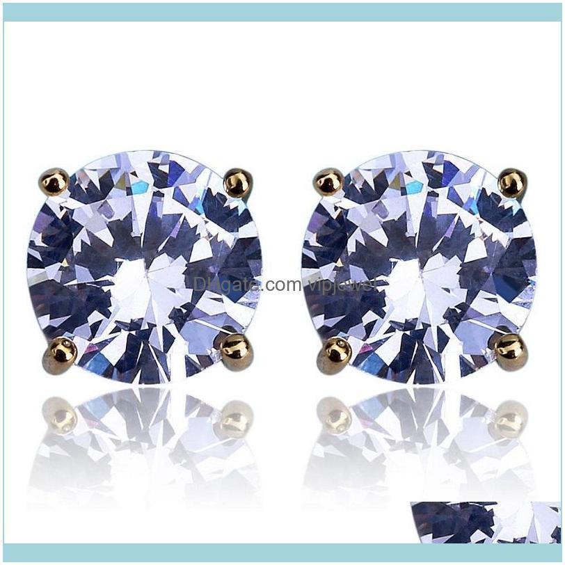 8mm Hip Hop Stud Earrings Silver Gold Plated earring mens womens earing ear ring Women Men designer earings luxury Jewelry