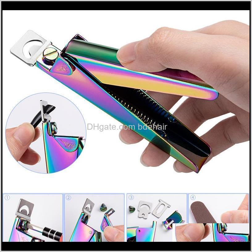 nail art clipper edge cutter gel uv acrylic fake stainless steel u clipper trimmer tip manicure tool scissor pedicure artificial