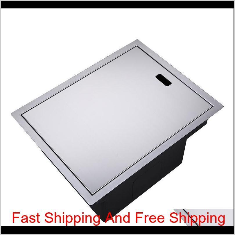invisible kitchen sink 304 stainless steel single hidden kitchen sink drain basket and drain pipe ship by