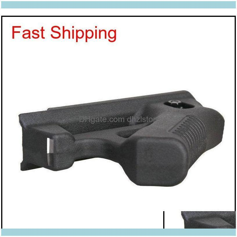 Tactical Black Ergonomic Canted Ar Front Grip Rail Mount Ultralight Nylon Construction Angled Front Fore Grip For Picatinny Weaver