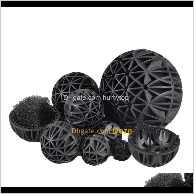 100pcs /lot 16 26 36mm aquarium pond biological bio balls filter media with sponge for fish tank koi pond fil qylgnq