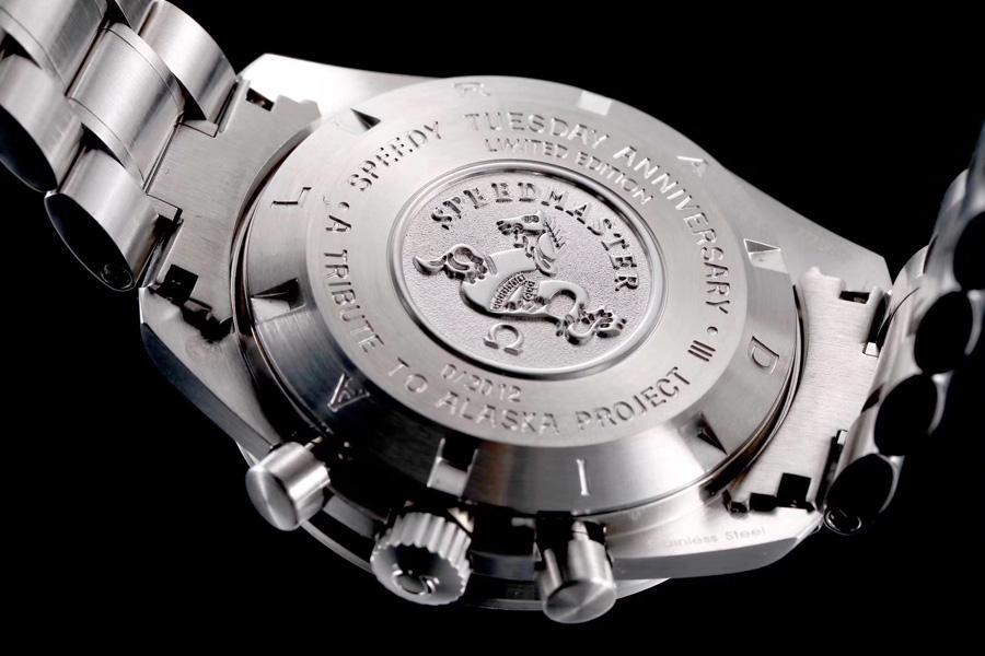 OMF Moonwatch دليل متعرج كرونوغراف رجالي ووتش الياقوت الأسود الطلب عصا علامات الفولاذ المقاوم للصدأ سوار 311.30.42.30.01.006 puretime