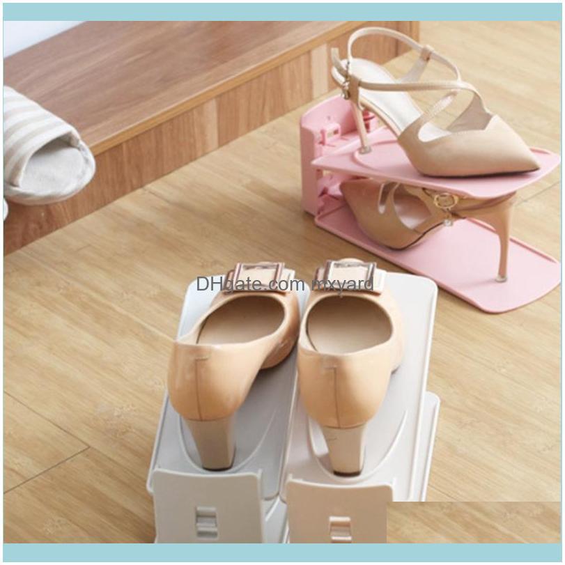 Adjustable Shoe Organizer Footwear Support Slot Space Saving Cabinet Closet Stand Shoes Storage Rack Shoebox