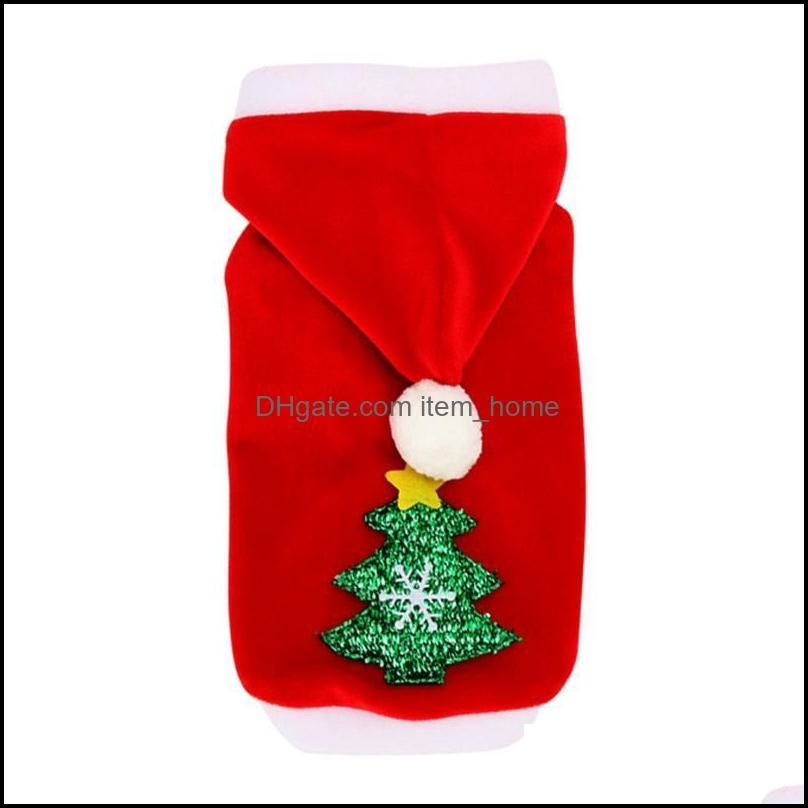 Dog Apparel Dogs Clothes Red Warm Winter Coat Clothing Santa Costume Hood Puppy Outfit For Hoodies Pet Cloth