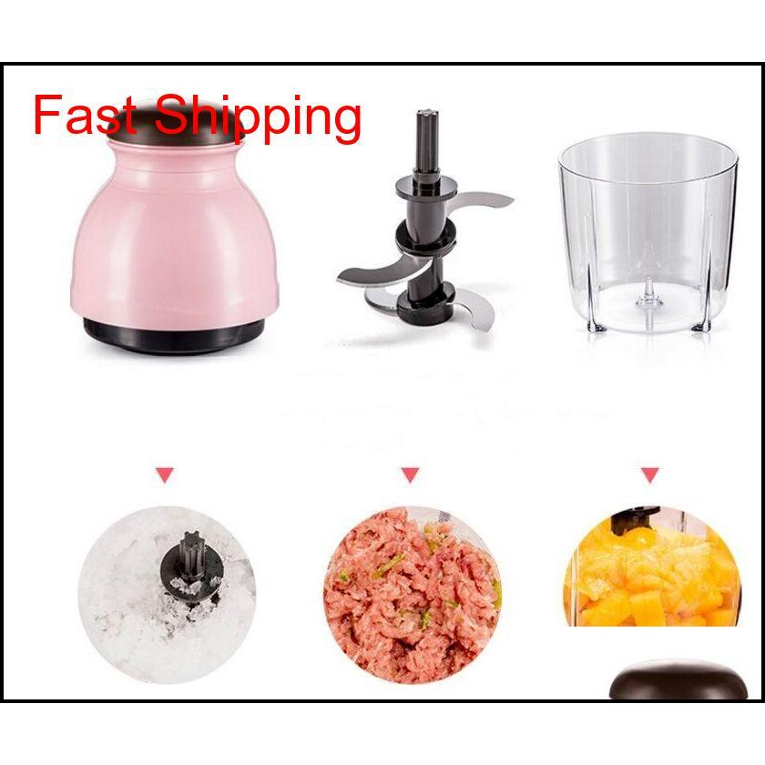 stainless steel meat grinder chopper electric automatic mincing machine household grinder food processor high-quality 220v