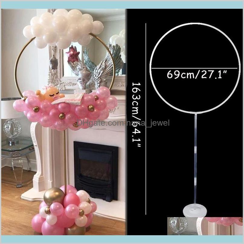 163x73 cm circle balloon arch frame balloons stand holder kit wedding decorations ba loon birthday party baby shower ballon decor