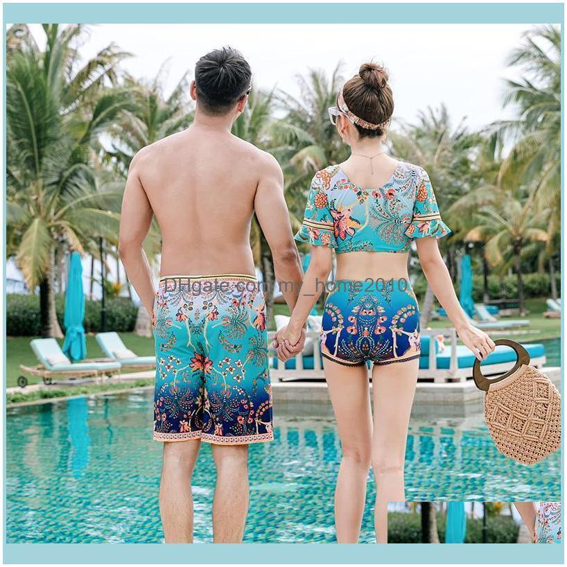 Factory direct sale swimsuit new couple bikini men beach pants hot spring swimwear wholesale
