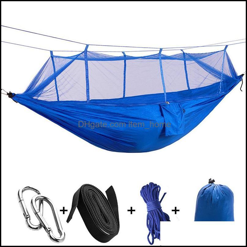 Tents And Shelters Portable Outdoor Camping Hammock, Parachute Fabric Hammock Net With Mosquito Net, Durable Tent