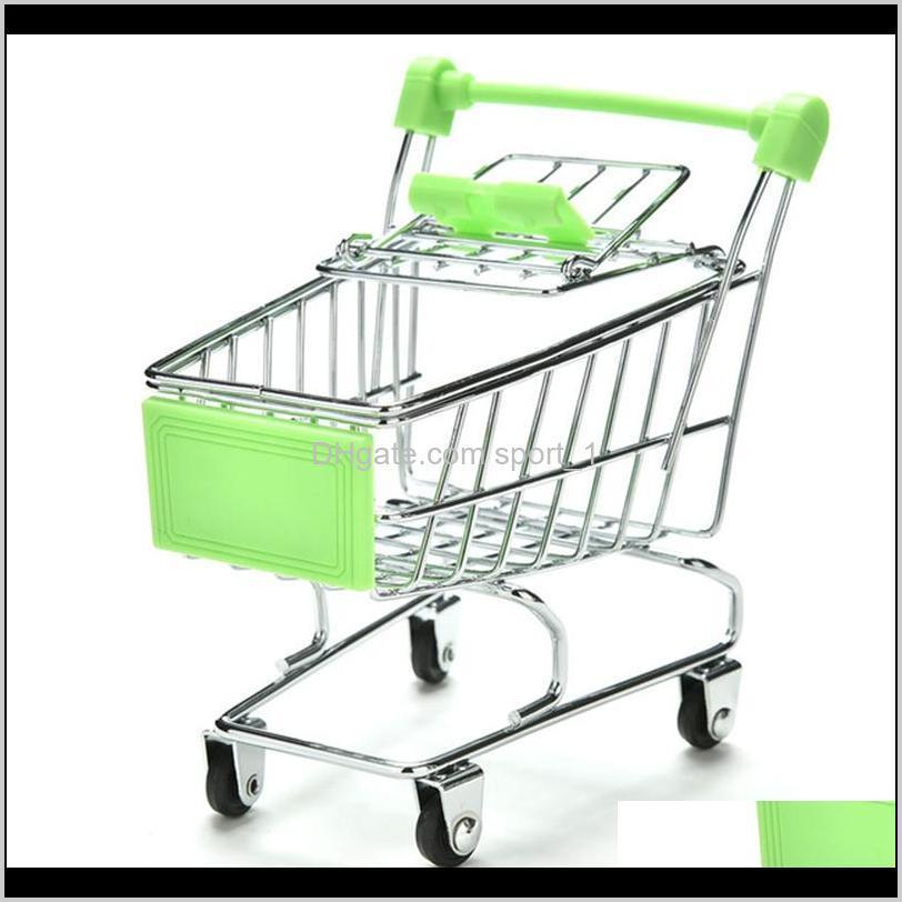 new mini supermarket shopping cart colorful funny pretend play toys trolley pet bird parrot hamster toy