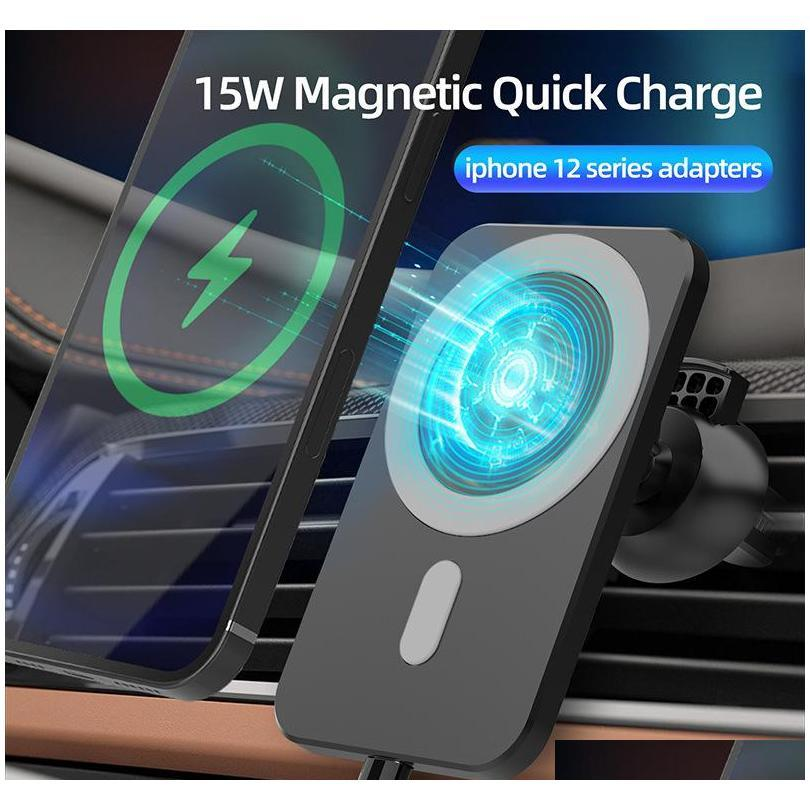 car holder e6 wireless car charger automatic clamping fast charging for iphone android air vent phone holder 360 degree rotation fast