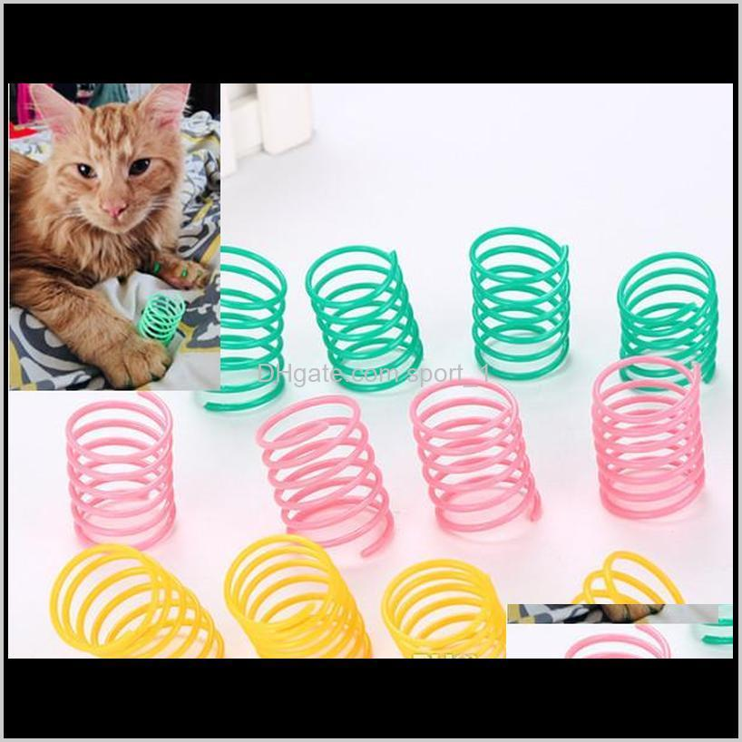 pet wide durable heavy gauge plastic colorful springs cat toy playing toys for kitten