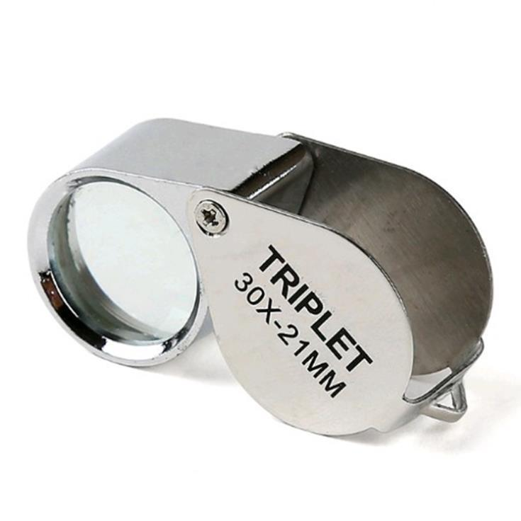 Loupes Mini 30X21Mm Jewelry Diamond Magnifiers Magnifying Glass Ingenious Portable Loupe Magnifier Sier Color With Retail Box