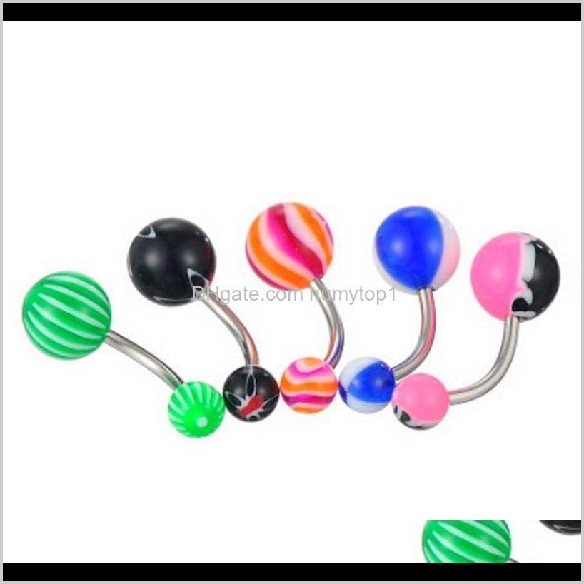 wholesale promotion 110pcs mixed models/colors body jewelry set resin eyebrow navel belly lip tongue nose piercing bar rings 4tei5