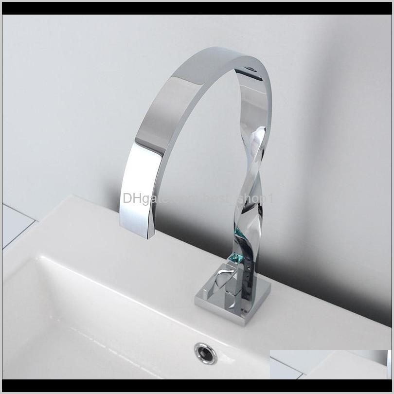 twisted tube fashion design black basin faucet single hole bathroom water mixer tap brass chrome & white hot & cold mixer faucet