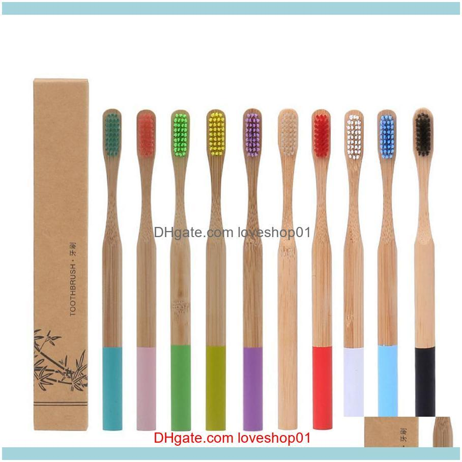 Natural Bamboo Soft Bristle Toothbrush 12 Styles Business Man Disposable Toothbrush Hotel Room Toothbrush Replacement