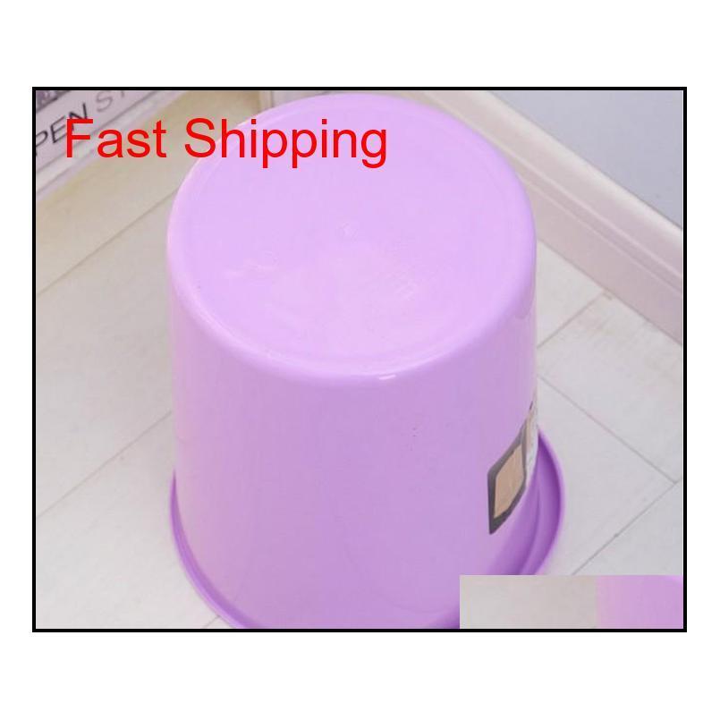 1pc creative living room kitchen trash office household garbage basket circular toilet plastic dustbin lf 081