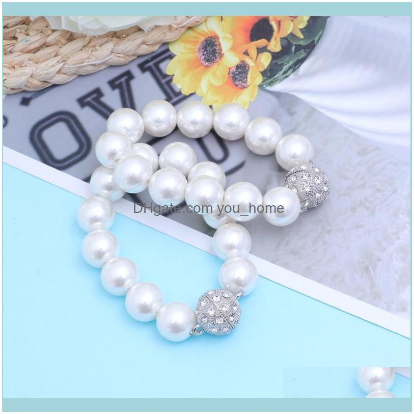 Other Home Decor 2 Pcs Pearl Magnetic Curtain Tie Backs Modern Fashion Magnet Holders Back Clips Beaded Buckle Straps D