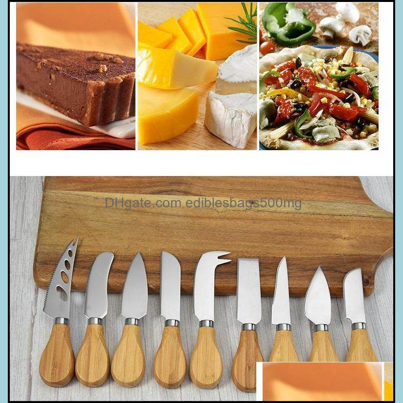 100pcs Stainless Steel Cutlery Butter Spatula Wood Butter Knife Cheese Dessert Jam Spreader Breakfast Tool sea ship HWE2912
