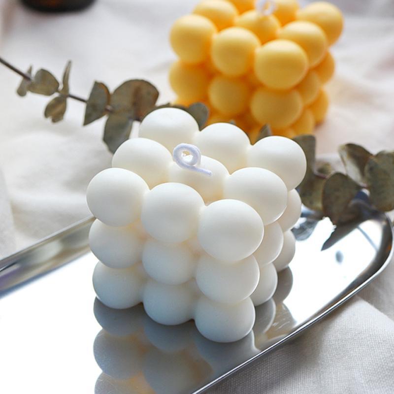 DIY SILICONO PEQUEÑO TAMAÑO CUBO Forma de cubo Molde de vela Herramientas de bricolaje Herramientas para hornear es Molde de cocina DHL gratis