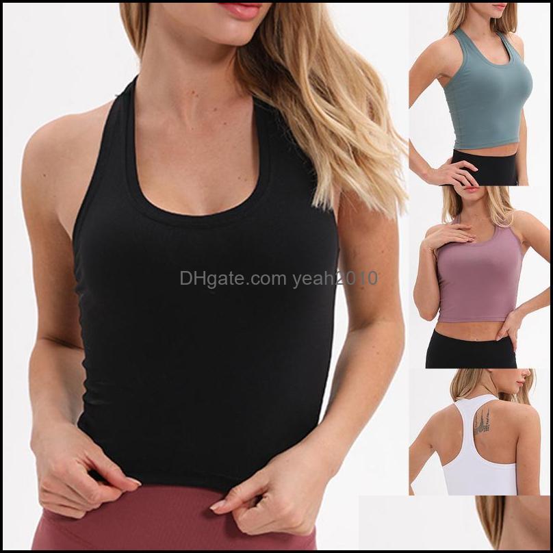 Running Jerseys Fitness Sports Vest Women Padded Bra Workout Shirts Yoga Tank Top