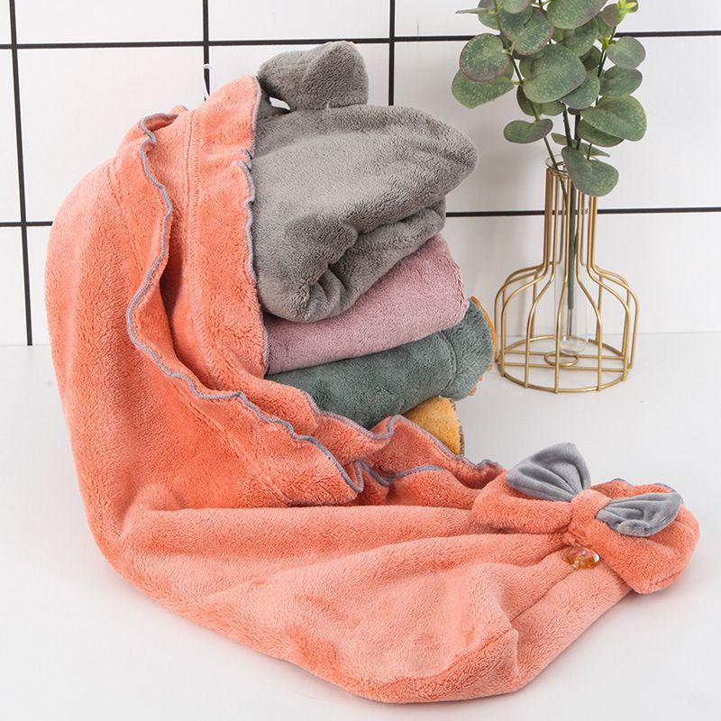 Girls corporels cheveux capuchon d'absorption de l'eau douce capillotte à la maison adulte séchage rapide sèche-serviette T500484