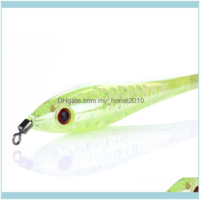 5Pcs/Lot Stainless Steel Luminous Squid Hooks Fishing Tackle Lures Squid Jigs Hook Umbrella Type Octopus Fish Hook Pesca