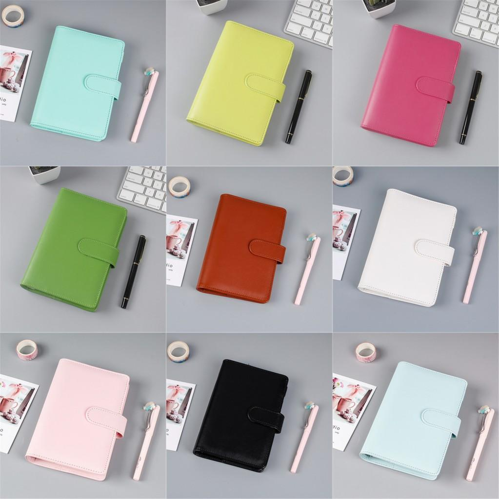 DHL A5/Aful Creative Waterproof Party Favors Macarons Binder Hand Ledger Notebook Shell Loose-leaf Notepad Diary Stationery Cover School Office