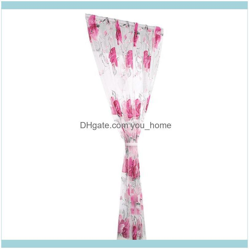 Curtain & Drapes 1*2m Printing Modern Simple Pastoral Living Room Bedroom Ink Home Decoration